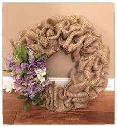 Burlap Spring Wreath $45