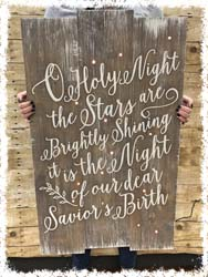 "O Holy Night Lighted Sign $50 22""x36"""