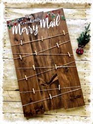 "Merry Mail Custom Sign $50 22""x36"""