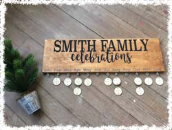 "Custom Family Celebration Plaque $45 24""x7.5"""