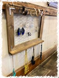 "Rustic Jewelry Holder $45 20.5""x 16.5"""