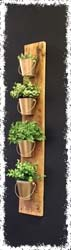 Wooden Plank Herb Bucket $40 40.5""