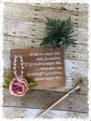 Personalized Grandparents Sign $40
