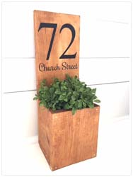 House Number Planter $40 16""