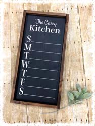 "Custom Chalkboard Menu Board $45 12""x25"""