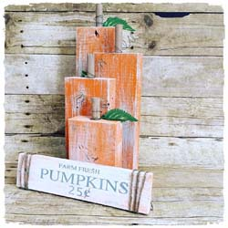 Wood Pumpkins and Fall Sign $45