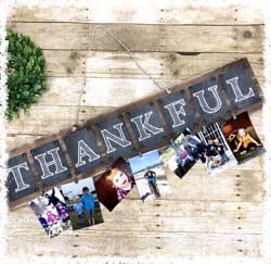 "Thankful Plaque $40 7.5""x36"""