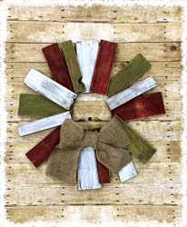 Wooden Wreath $45