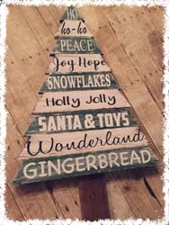 Wooden Christmas Tree $45