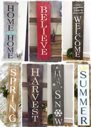 "Entryway Sign $45-65 11.25""x60"""