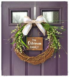 Grapevine Wreath (with Wooden Sign Attached) $45 18""