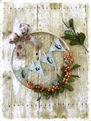 Fall Embroidery Hoop Wreath $45 18""