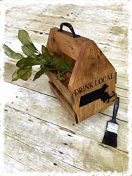 Wooden Six-Pack Holder $45
