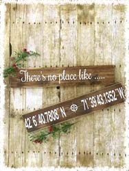 "Custom Longitude/Latitude Sign $40 24""x4.5"""