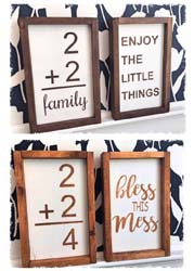 "Set of Two Vintage Family Flash Cards $40 7.5""x13.5"""